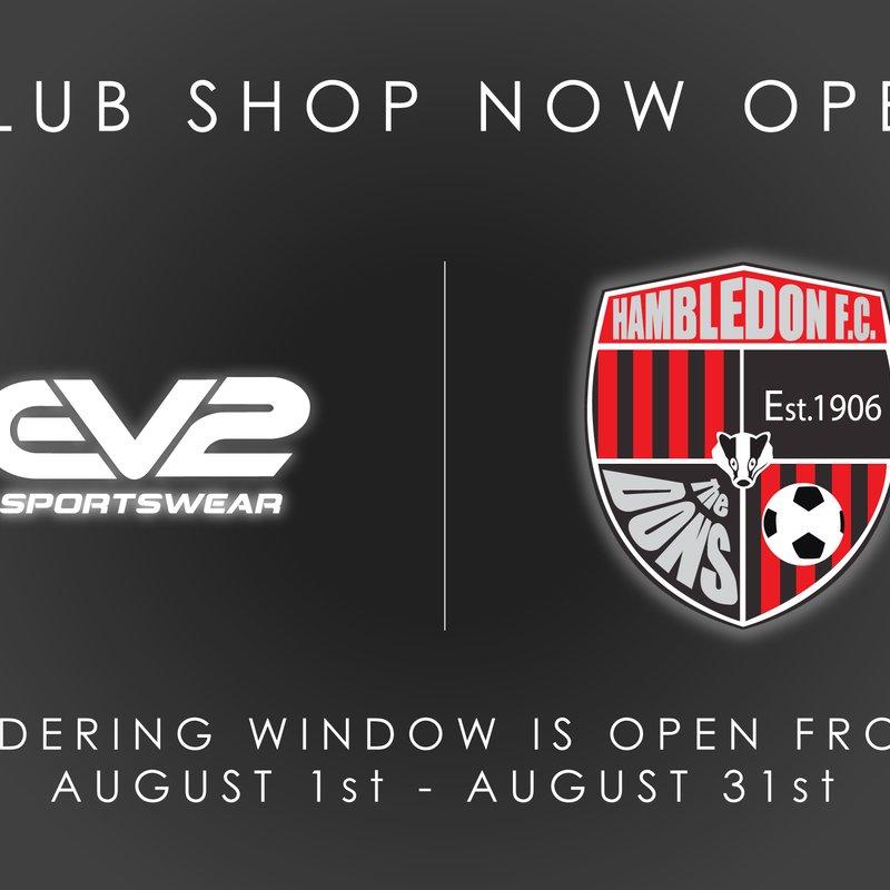Club Shop Now open