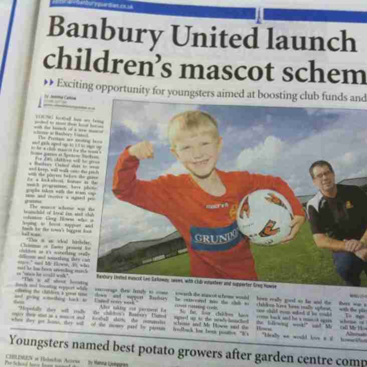 Leo Under 8's makes the Banbury Guardian