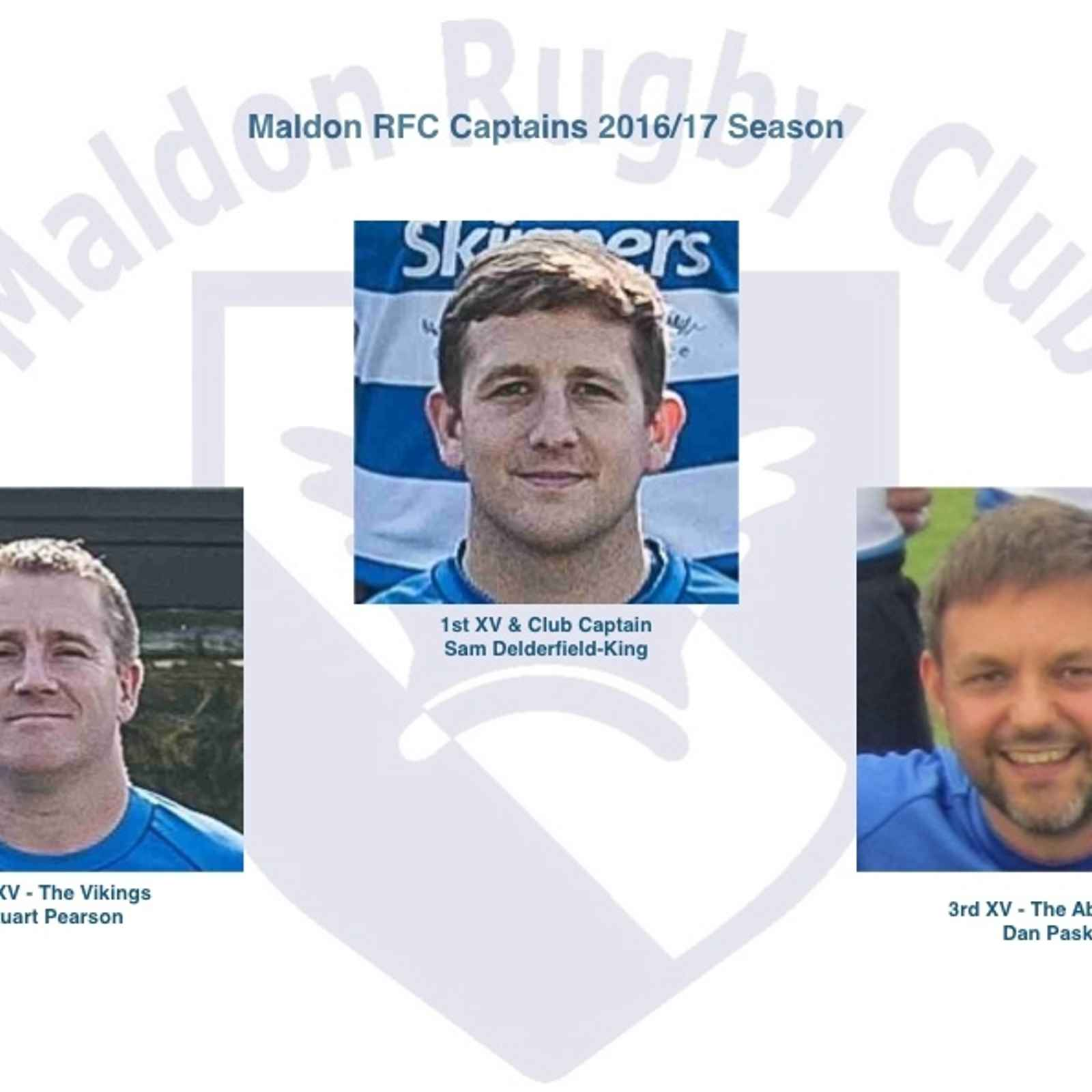 Captains for the 2016/17 Season