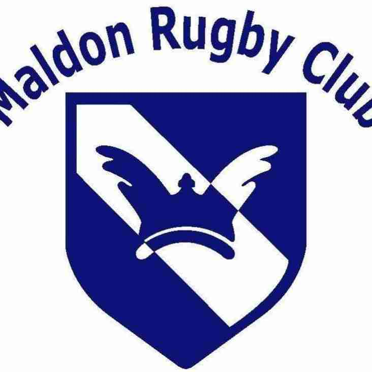 This weekend at Maldon RFC