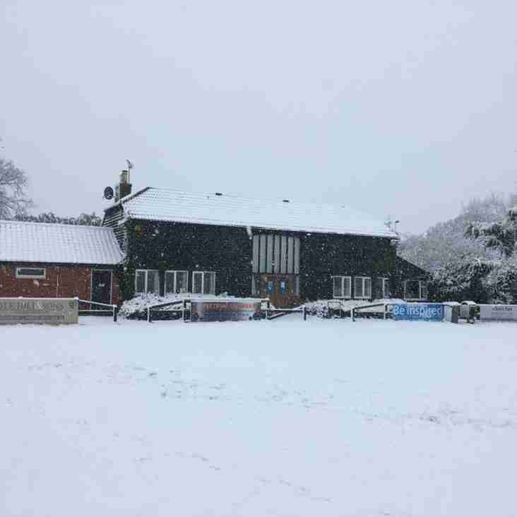 Rugby this weekend at Maldon RFC struck by  Beast from the East