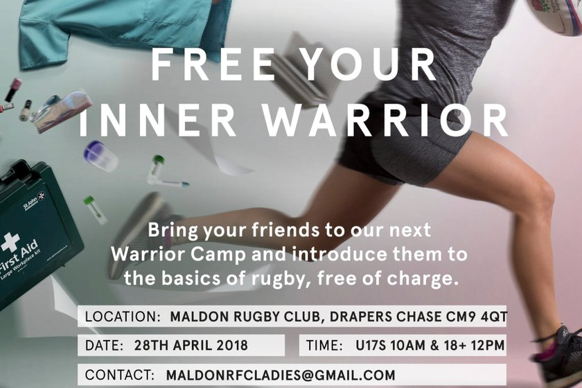 FREE Ladies Rugby Camp at Maldon RFC with England Rugby