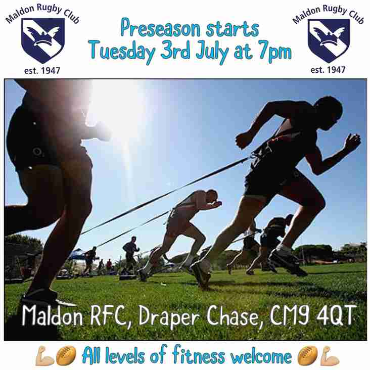 Pre-season continues every Tuesday & Thursday from 7PM