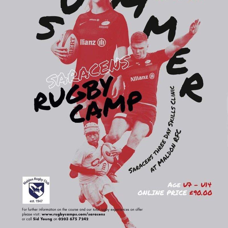 Saracens Summer Skills Rugby Camp at Maldon RFC