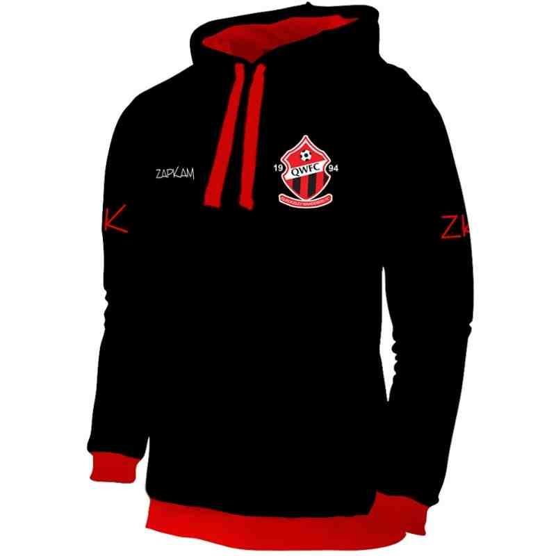 Quedgeley Wanderers FC Black Pullover Hoodie