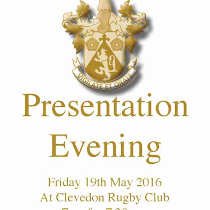 Presentation Evening Friday 19th May