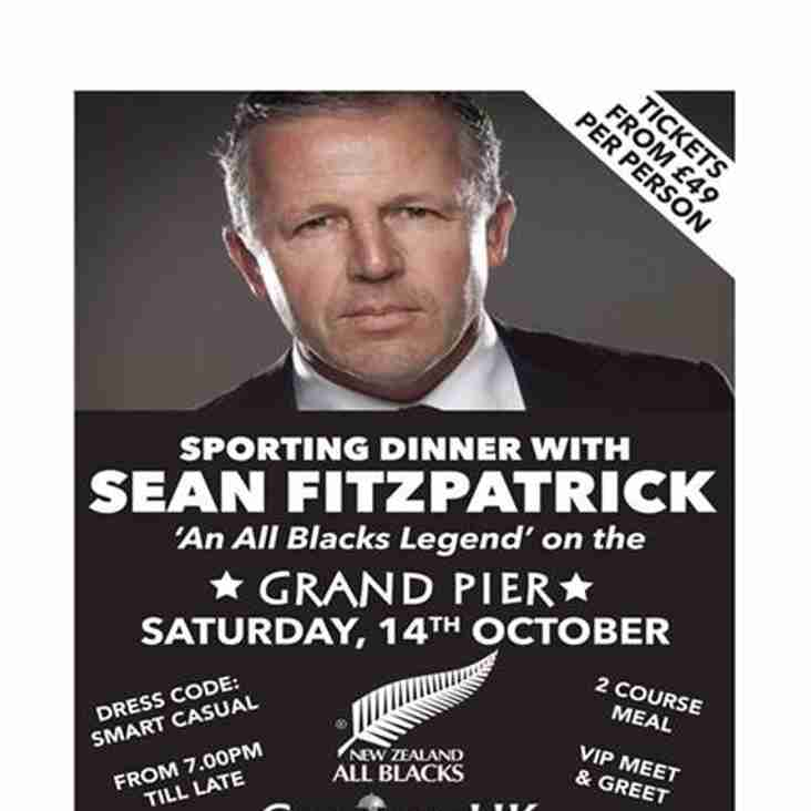 Sporting Dinner With Sean Fitzpatrick On The Grand Pier