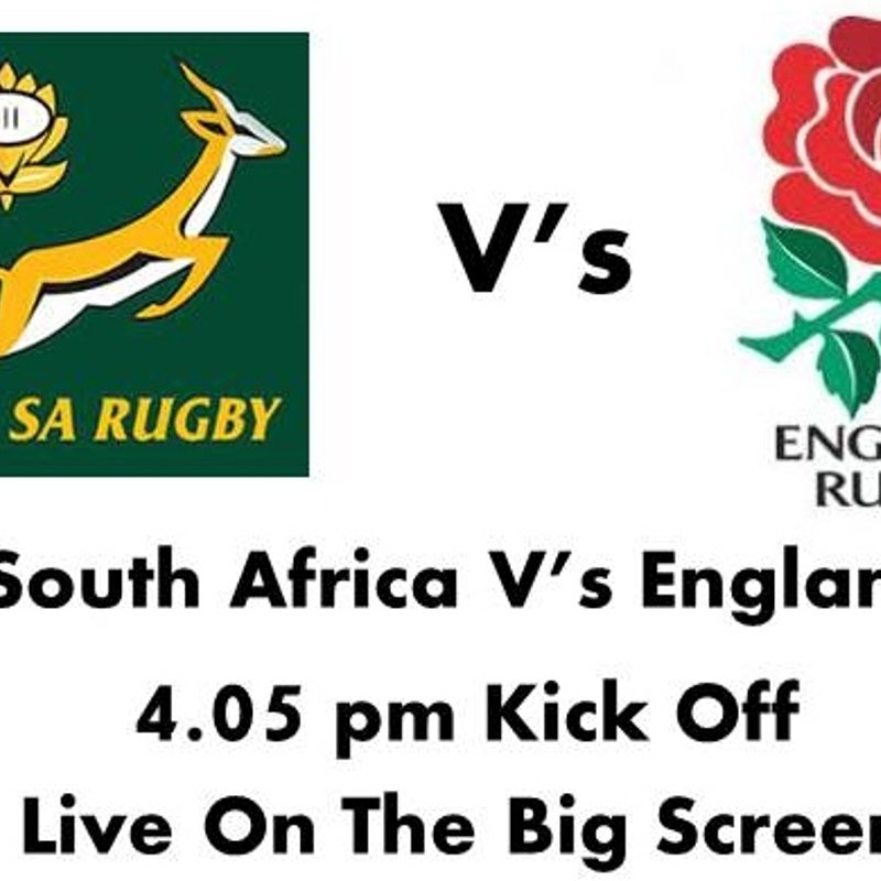 This Week At The vale - South Africa V's England Saturday