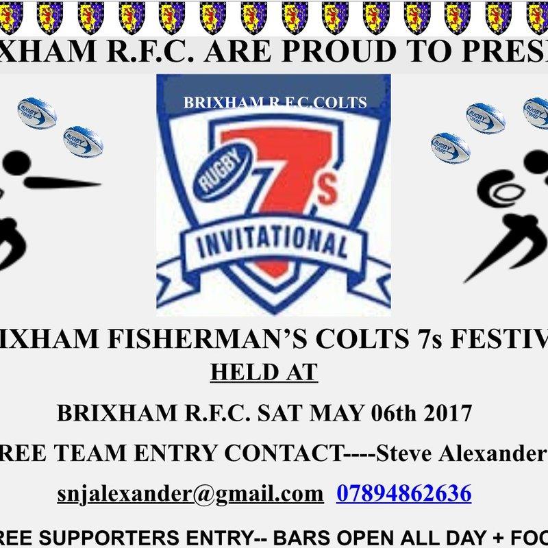 Brixham Fishermans Colts 7's Tournament!