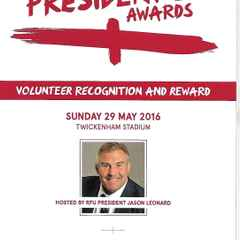 Brackley recognised in the 2016 Presidents Awards.