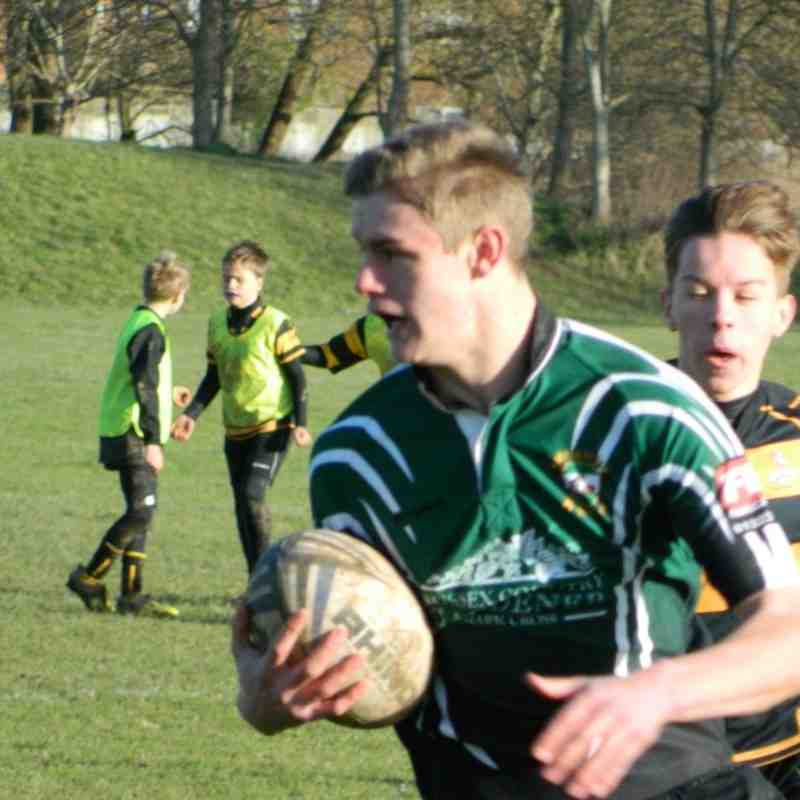 U15 Edenbridge vs HWRFC League 11 Jan 2015