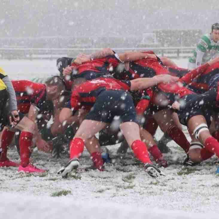 1st XV deny 2nd placed Barnard Castle  a bonus point in another away good performance in bleak conditions