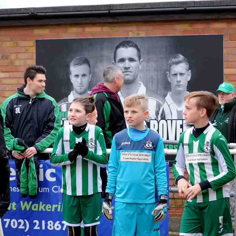 Great Wakering Colts Under 10 Lions. Match Mascots v Waltham Abbey 13th February 2016