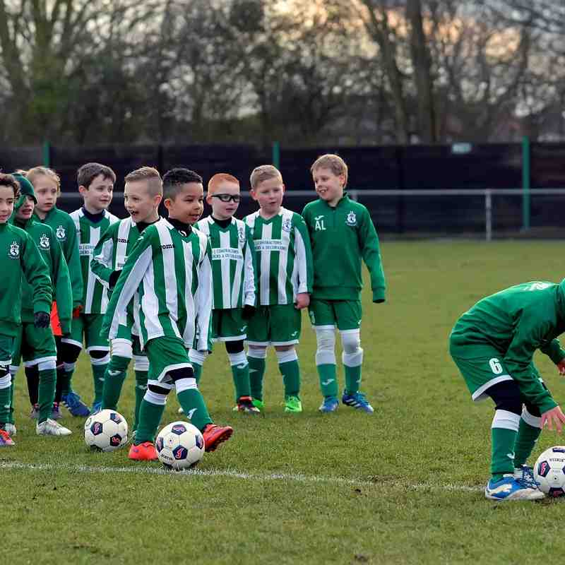 Great Wakering Colts U7 Lions & Tigers who were match mascots v Thamesmead Town 27th February 2016