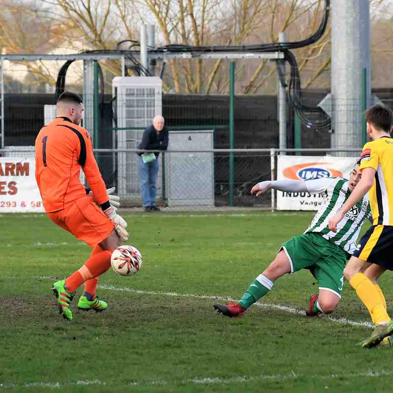 Rovers 1 Witham Town 3 - 11th March 2017. Ryman Division 1 North. (For full set of match pics visit https://www.flickr.com/photos/gwroversfc/albums/72157678022265743