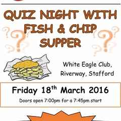 SOLD OUT - Quiz Night with Fish & Chip Supper