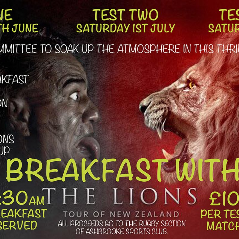 Breakfast with the Lions.