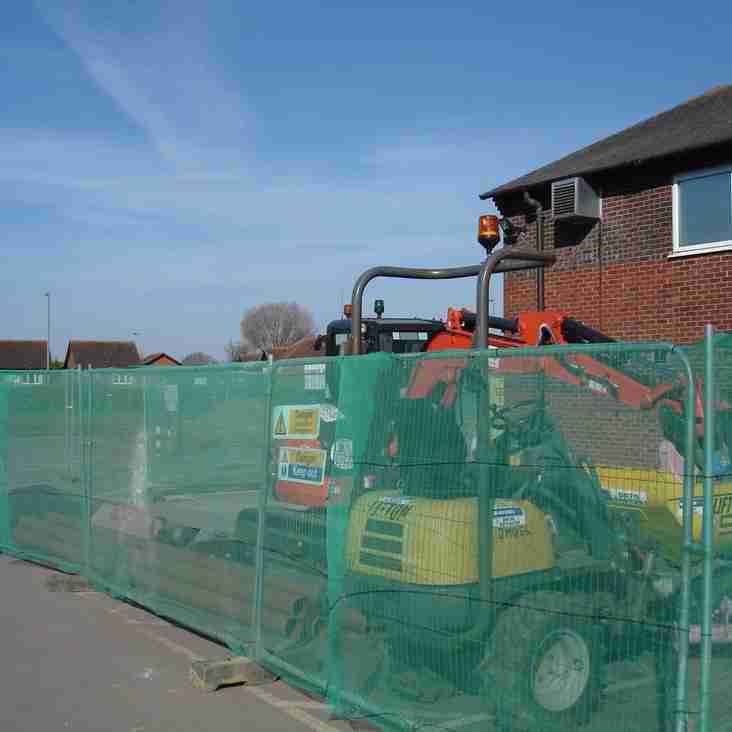 Building works start promptly at the club