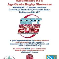 Age Grade Rugby showcase