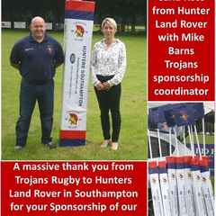 Hunters Land Rover Southampton Sponsor Trojans Rugby