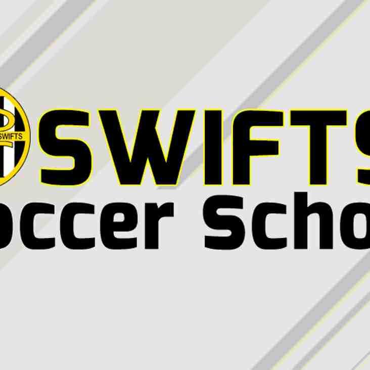 Swifts Soccer School is BACK for 2019...!