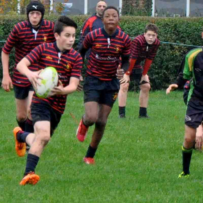 New Milton v Trojans U14's Sun 8th November 2015