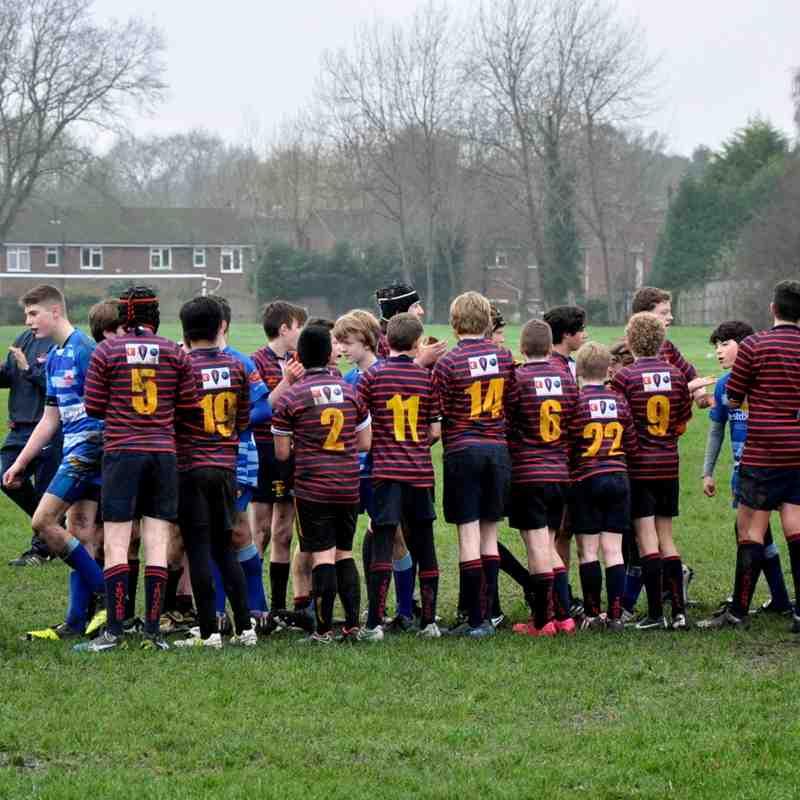 Trojans U14's Development squad v Farnborough B's 13-12-15