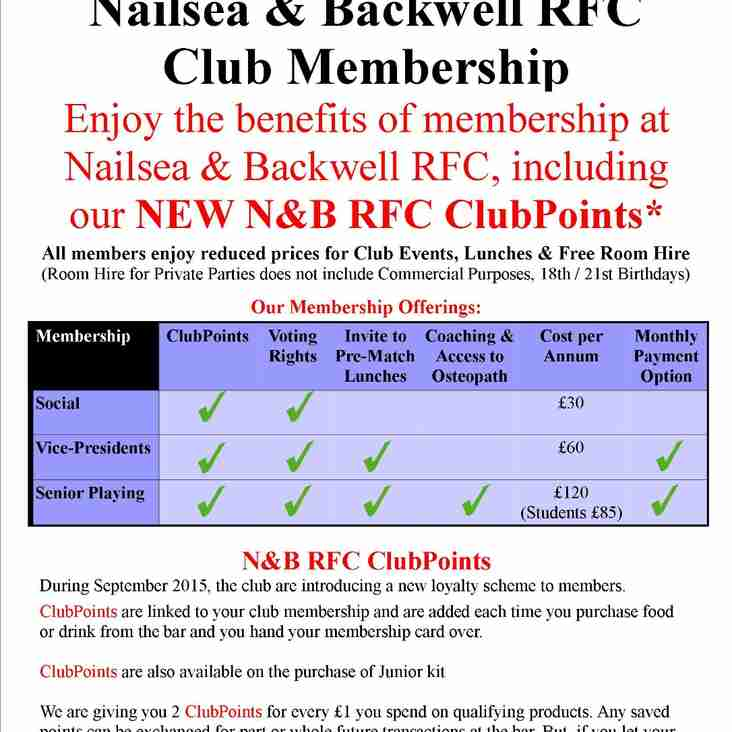 Club Membership Enhancements