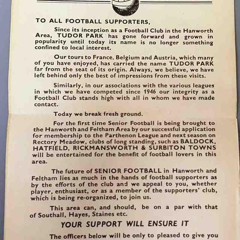 Tudor Park FC - 70 Years 1946-2016