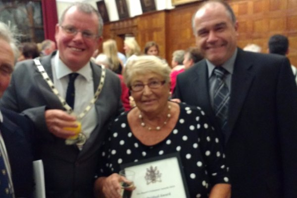 Joan Powell receives Volunteer award from Reigate Borough Council