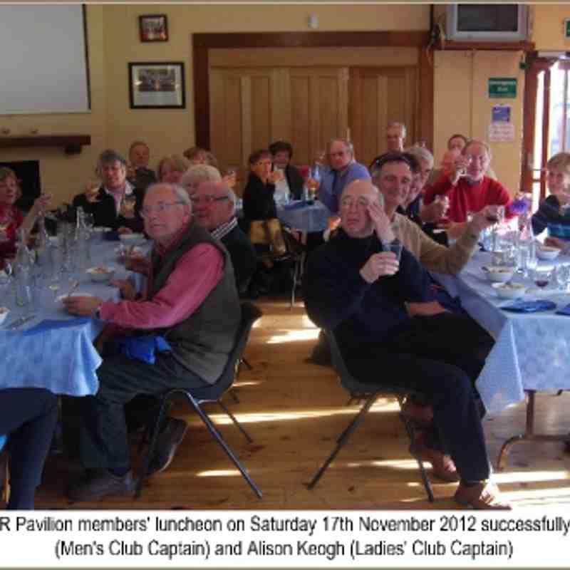 Pavilion Lunch Nov 2012