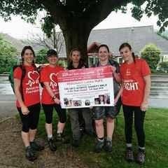 Whitchurch Ladies Trek for British Heart Foundation 3rd Sept 16