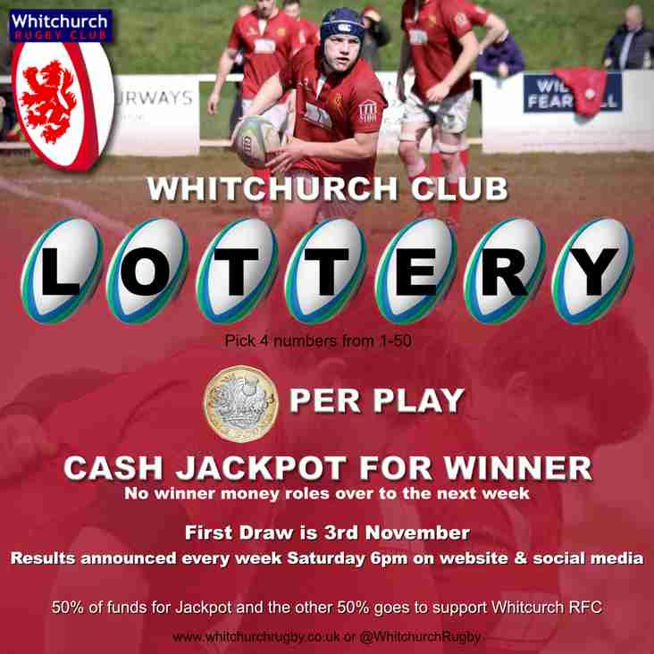 Club Lottery - 1st Draw Saturday 3rd November 2018