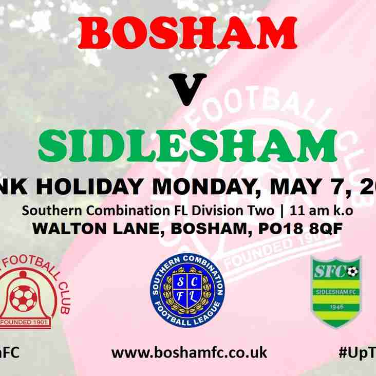 For Your Diaries - Sidlesham, May 7, 11am k.o