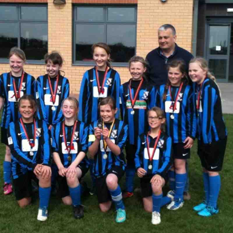 Clee Town Ladies FC under 11's South Humber League Champions and Plate Winners 2012-2013