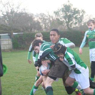 U13s win hard fought contest against Horsham RFC