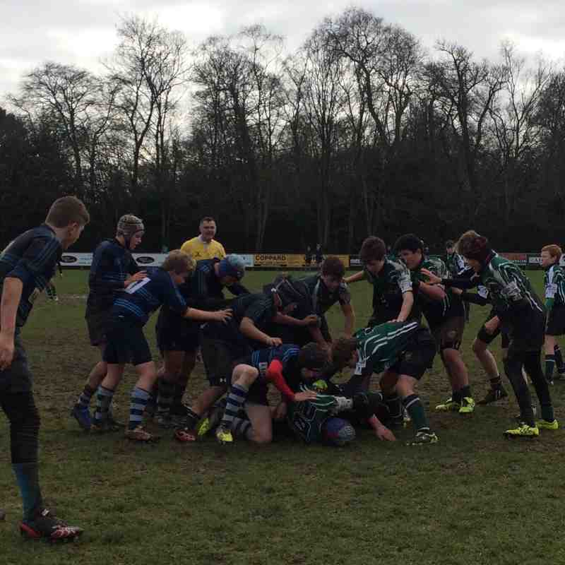 U13s League Match vs Chichester RFC 25 January 2015