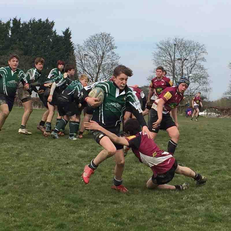 U14s away to Cranbrook RFC 3 April 2016