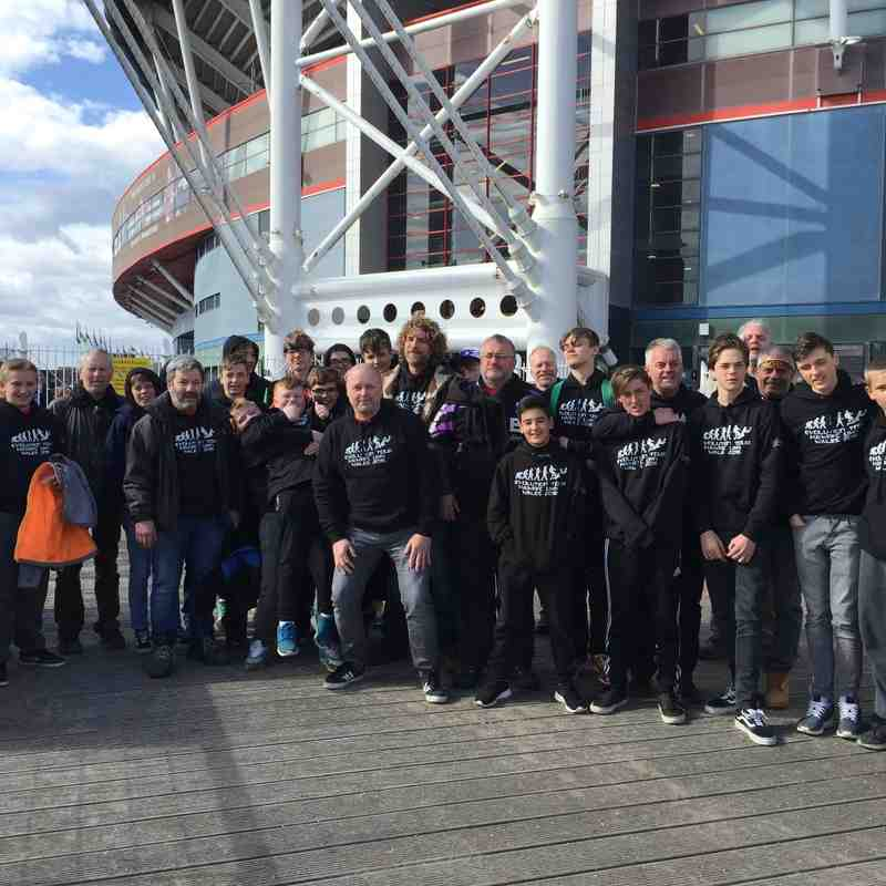 The U14s on tour