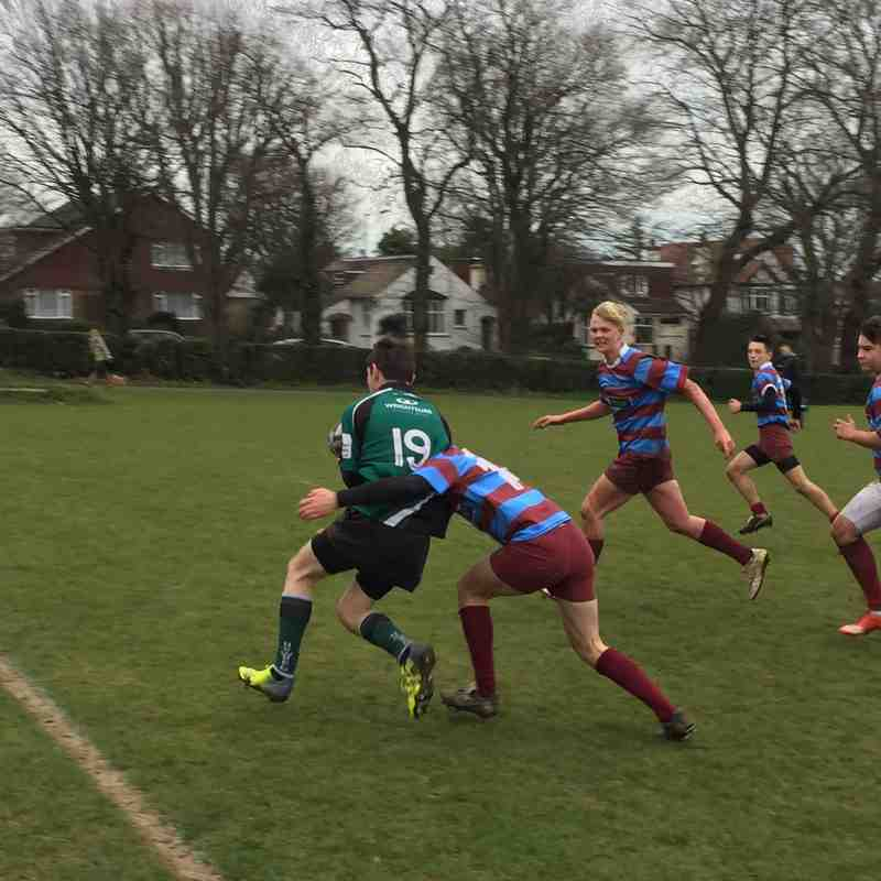 U15s League Match vs Hove RFC 5 February 2017