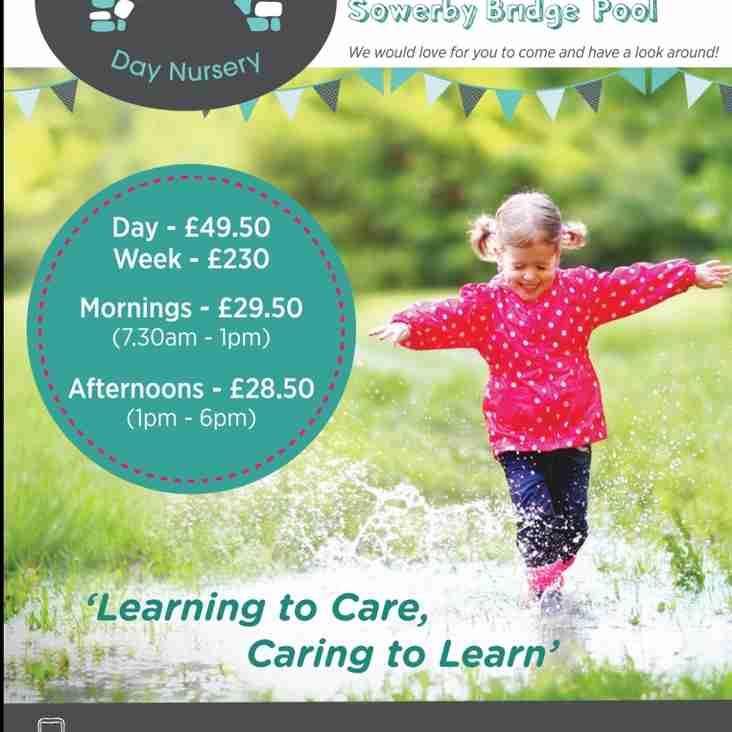 Sowerby Bridge Day Nursery new sponsors