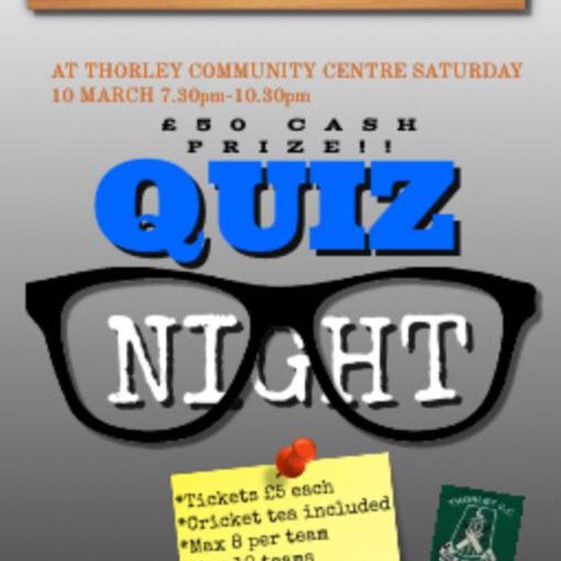 Quiz Night - Saturday 10th March