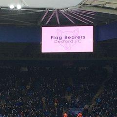 Desford girls flagbearers