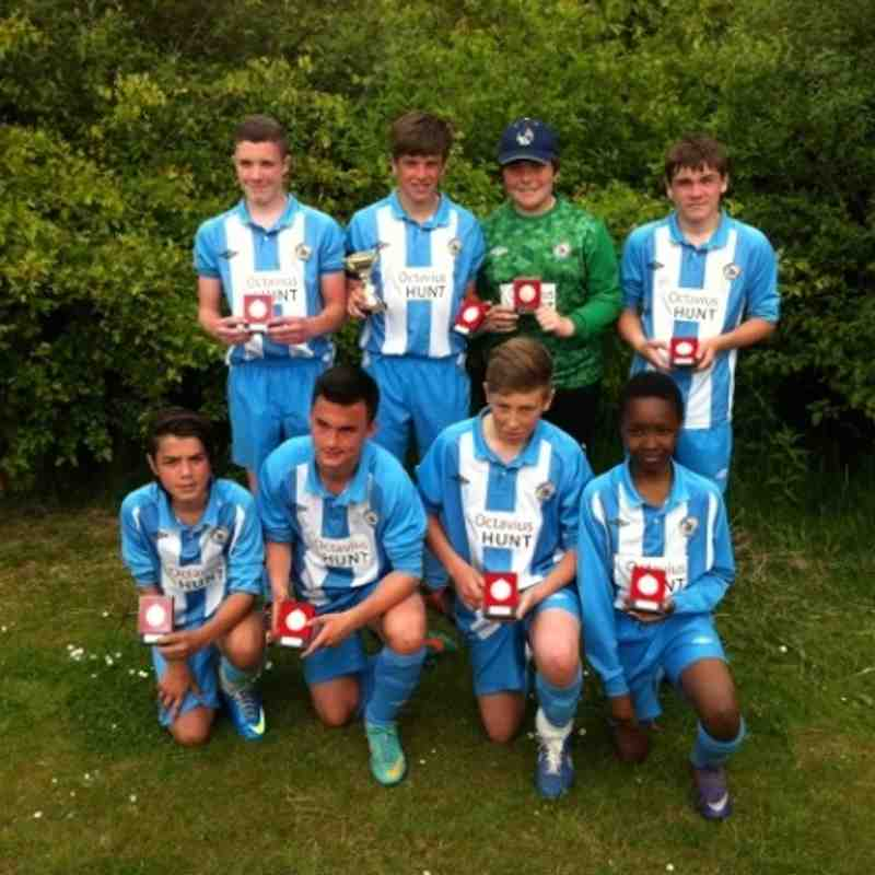 Winners of Bradley Stoke United Tournament 2013