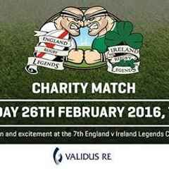 The England v Ireland Rugby Legends Charity Match Returns to The Twickenham Stoop
