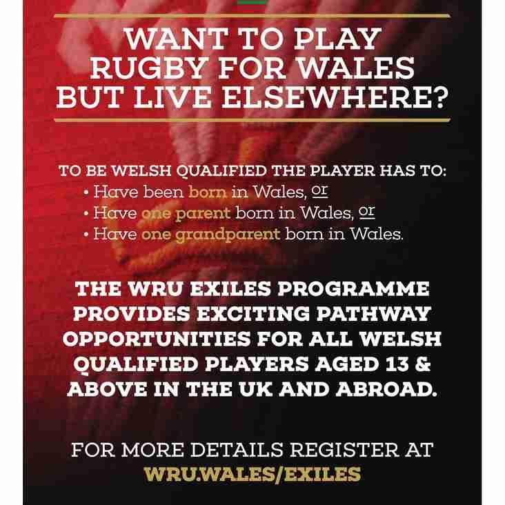 WRU Exiles Programme