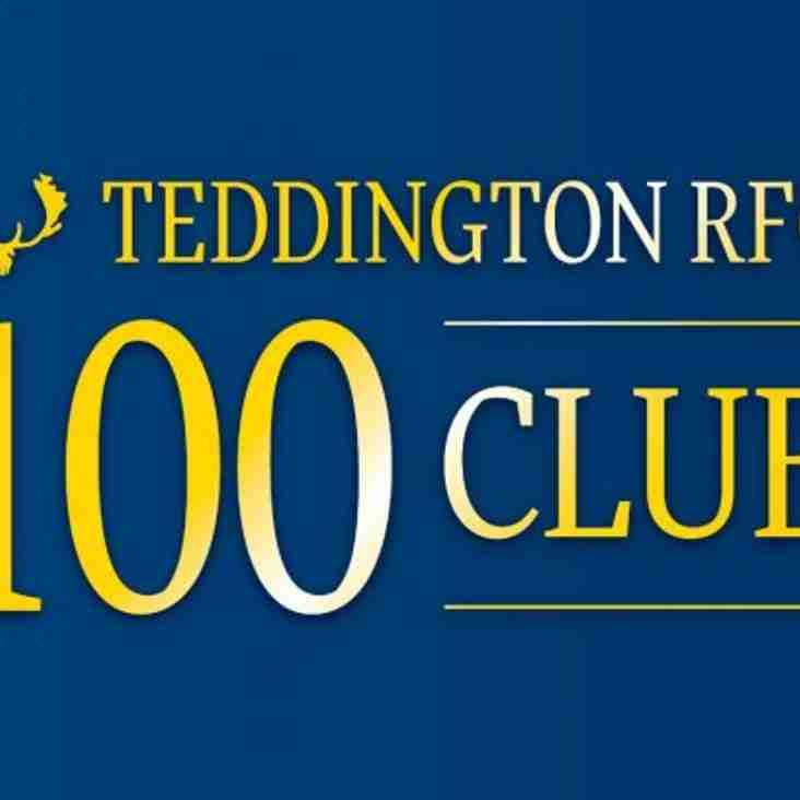 Teddington 100 Club Winners