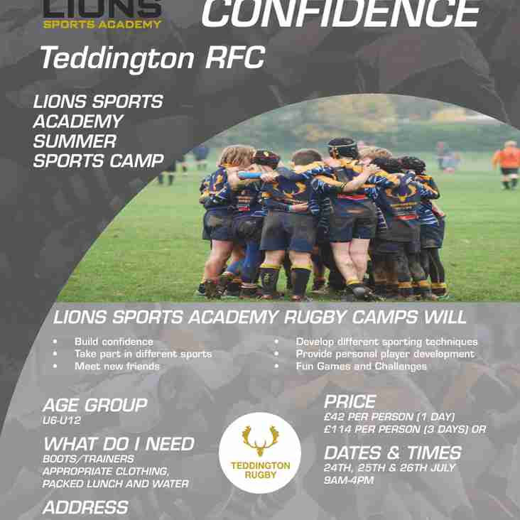 Lions Sports Academy July Courses