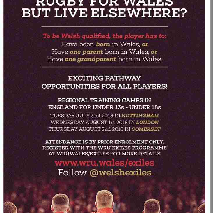 Want to play rugby for Wales but live elsewhere?