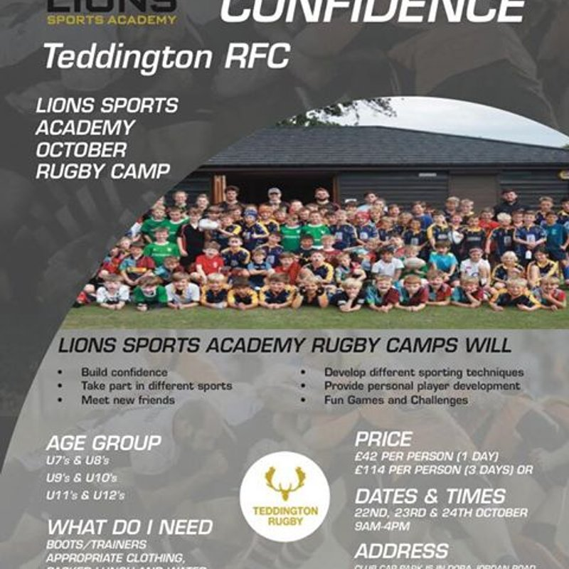Lions Sports Academy October Camp